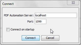 Keep default parameter to start the server on the local machine (localhost)