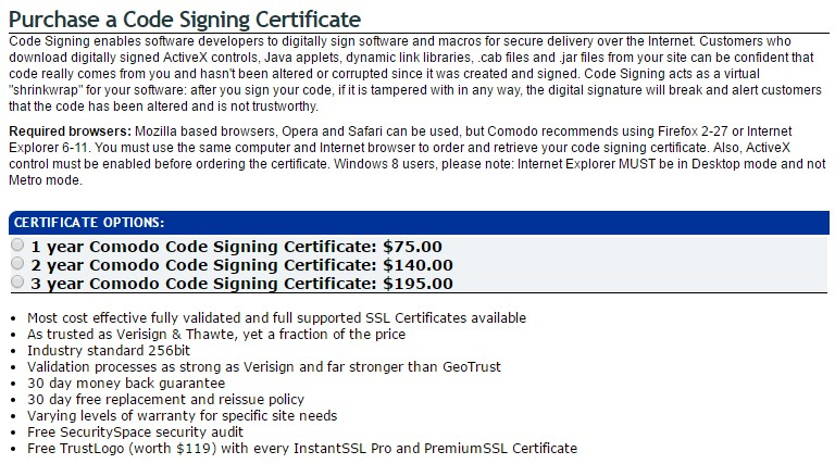 Comodo Certificates Sold By Tucows are affordable