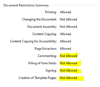 Permissions on Locked Digital Signatures