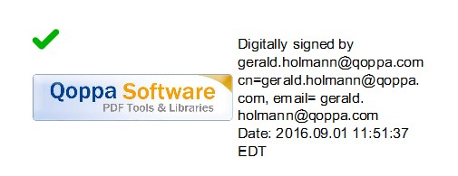 This is a valid digital signature in the original PDF showing as valid in the output HTML